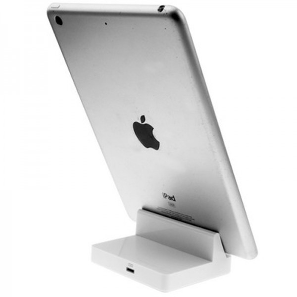 docking station for apple ipad air 2 mini 3 retina cradle desk dock white ebay. Black Bedroom Furniture Sets. Home Design Ideas