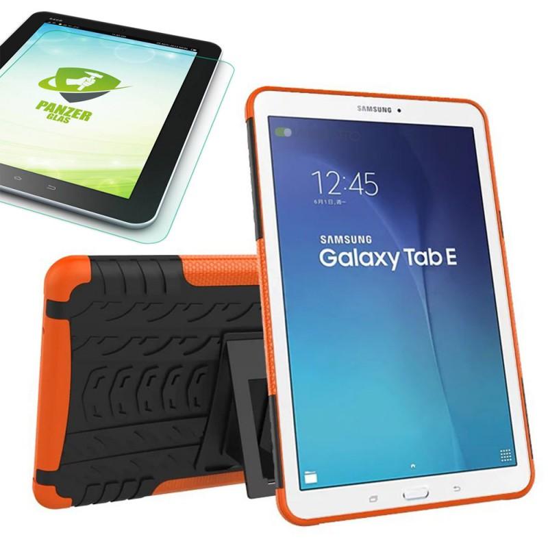 hybrid outdoor tasche orange f r samsung galaxy tab e 9 6 sm t560 0 4 panzerglas tablet. Black Bedroom Furniture Sets. Home Design Ideas